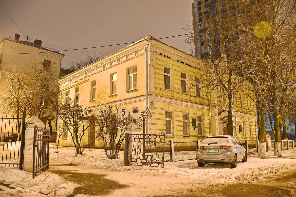 Здание школы, в которой учился Лобановский