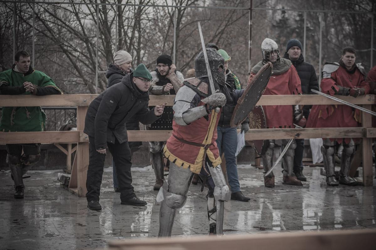 Впервые на Певческом поле провели турнир по рыцарскому бою