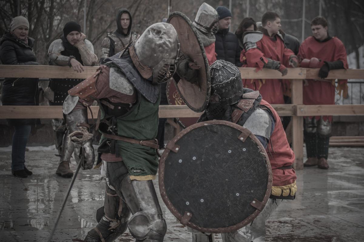 Рыцари дрались в полную силу