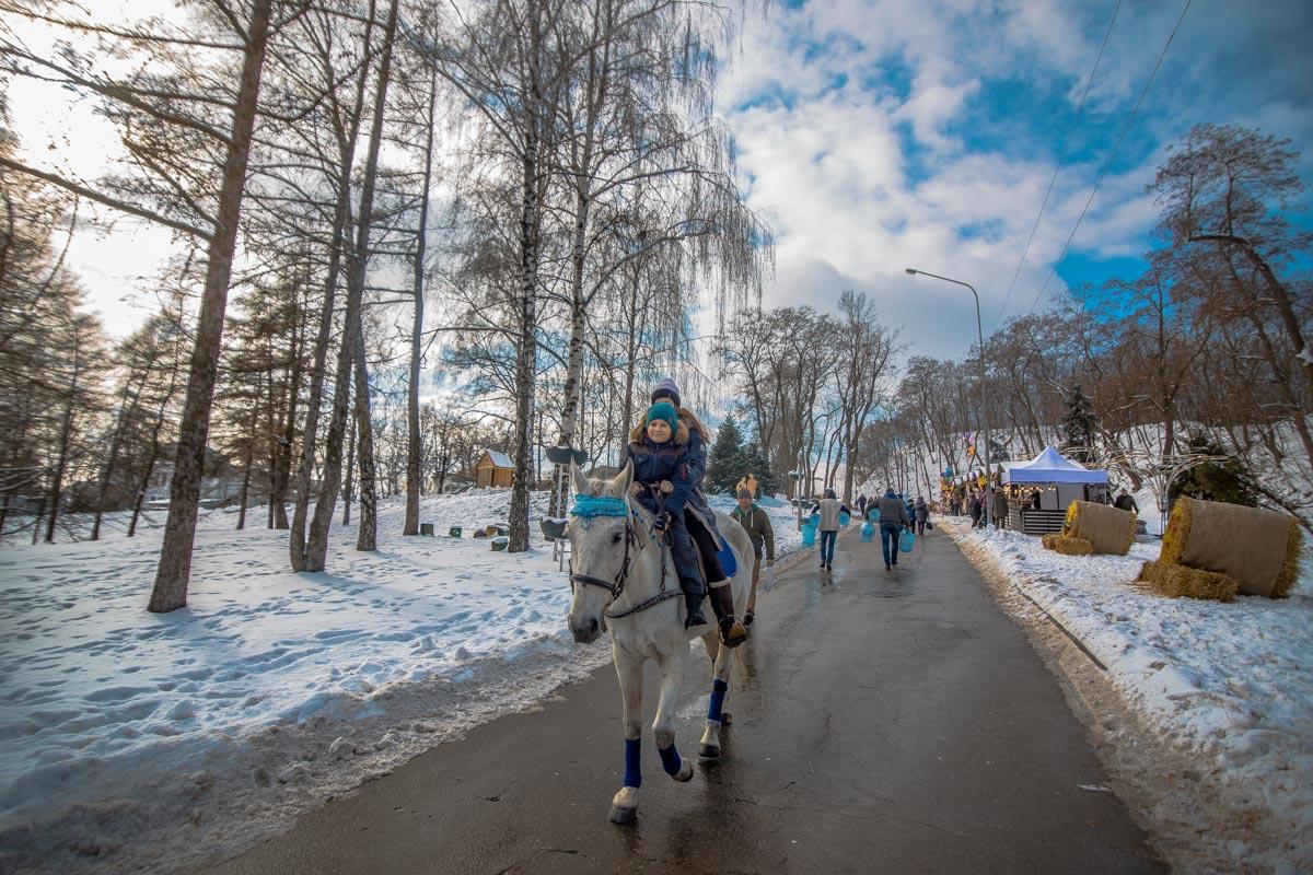 Дети с удовольствием катались на лошадях