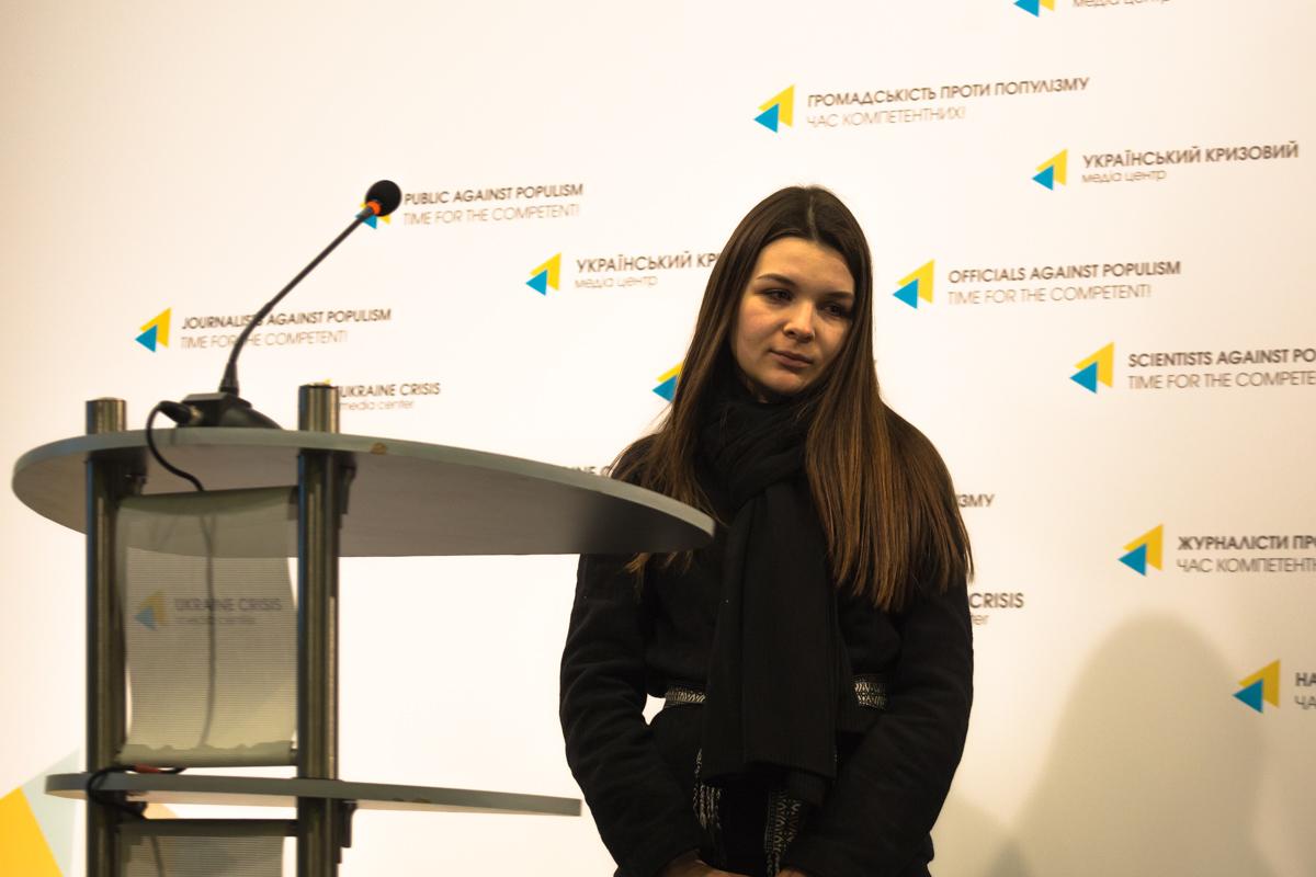 Литвиненко Александра выступила в защиту прав всех студентов