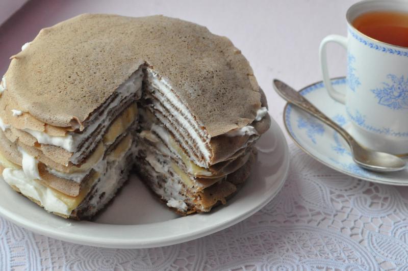 Блинный торт с творожным кремом