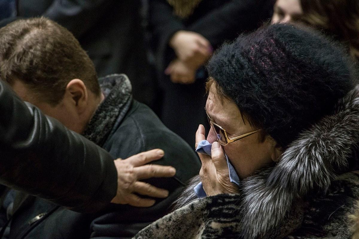 Родственники умершего принимают соболезнования