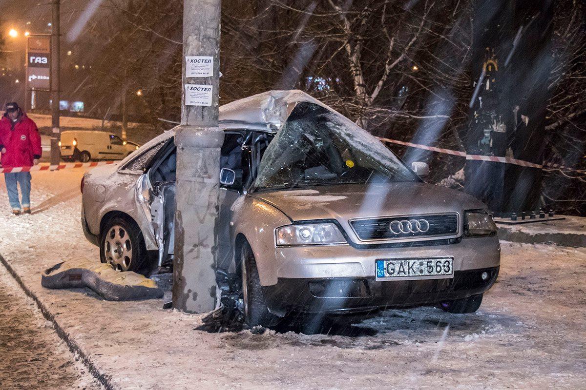 """Авария произошла рядом с метро """"Лыбедская"""""""