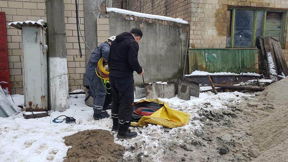 Строительный объект, где произошло ЧП. Фото: Киевская служба спасения