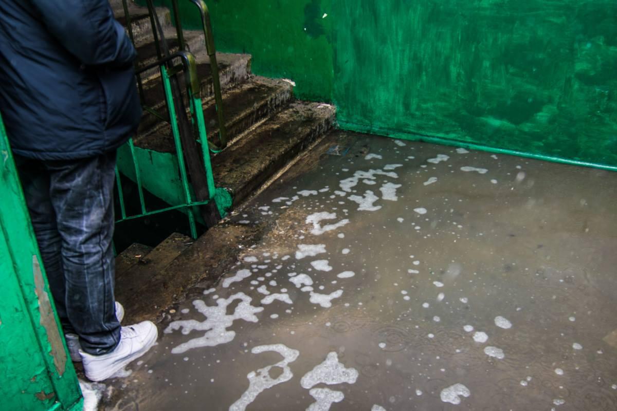 Нижние этажи затопило