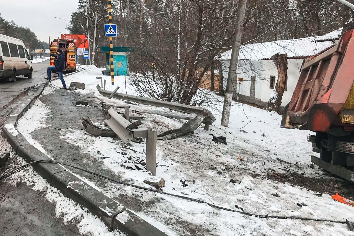 ДТП произошло на Гостомельском шоссе