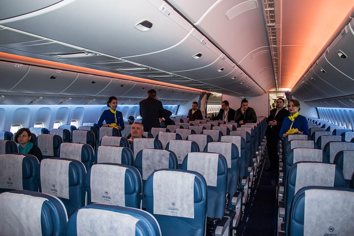 Салон самолета эконом-класса