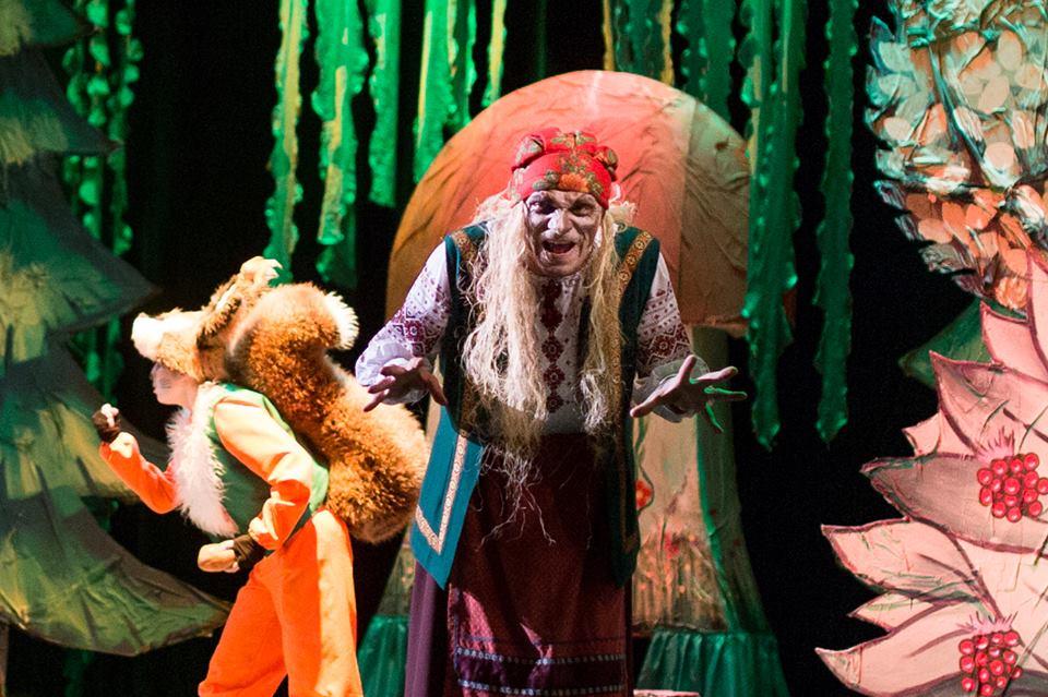 Фрагмент из спектакля в Дрогобычском театре