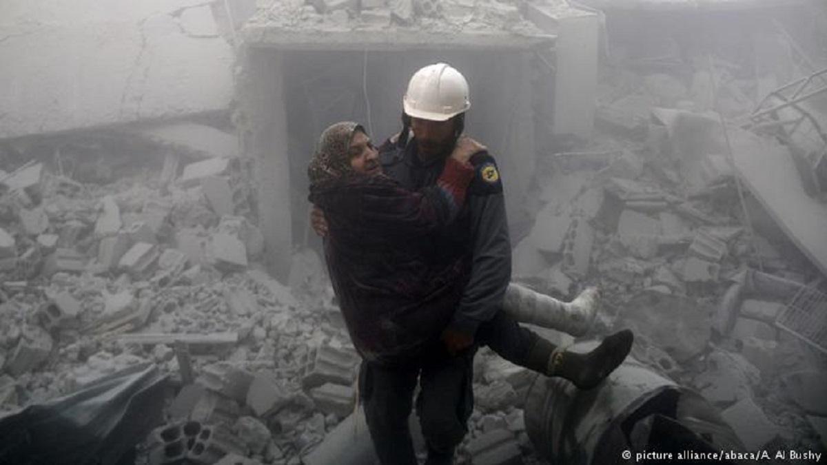 За неделю в Сирии во время бомбардировок погибли 500 человек, из них 123 ребенка