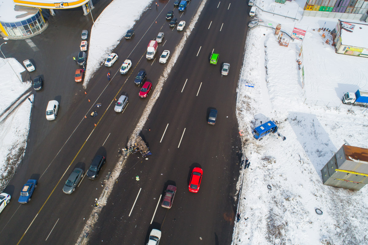 ДТП произошло на Одесской трассе