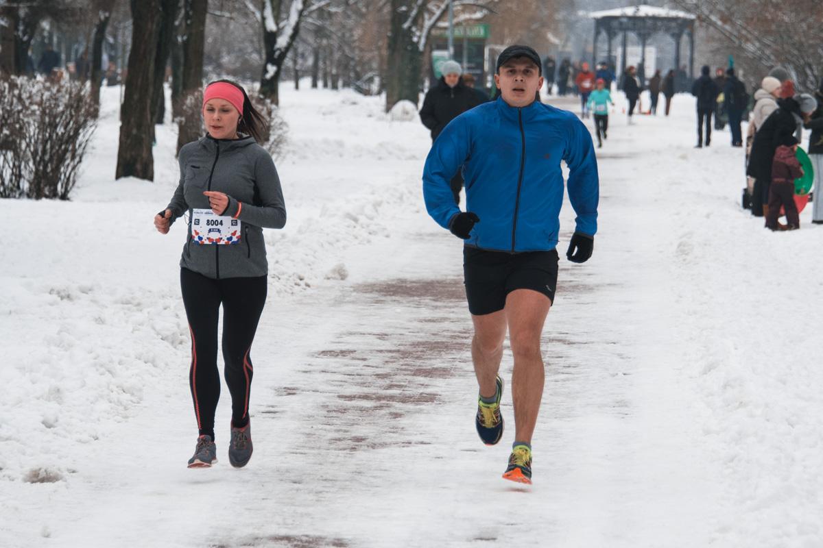 Настоящим бегунам даже мороз нипочем