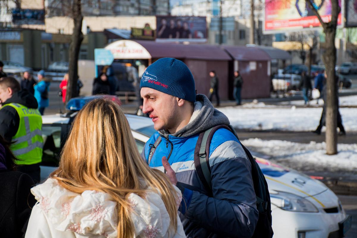 Пешеход был со своей беременной женой