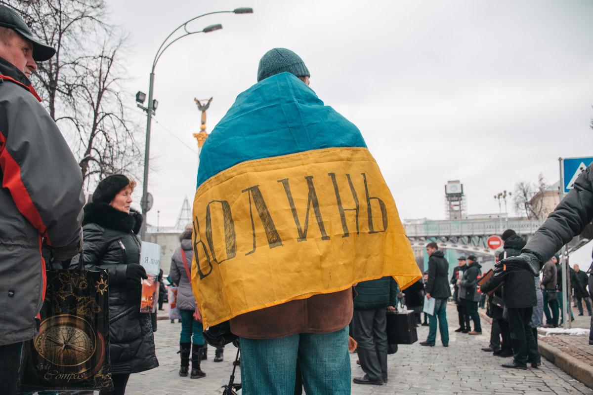 Акция прошла в честь тех, кто погиб зимой 2014 года на Майдане