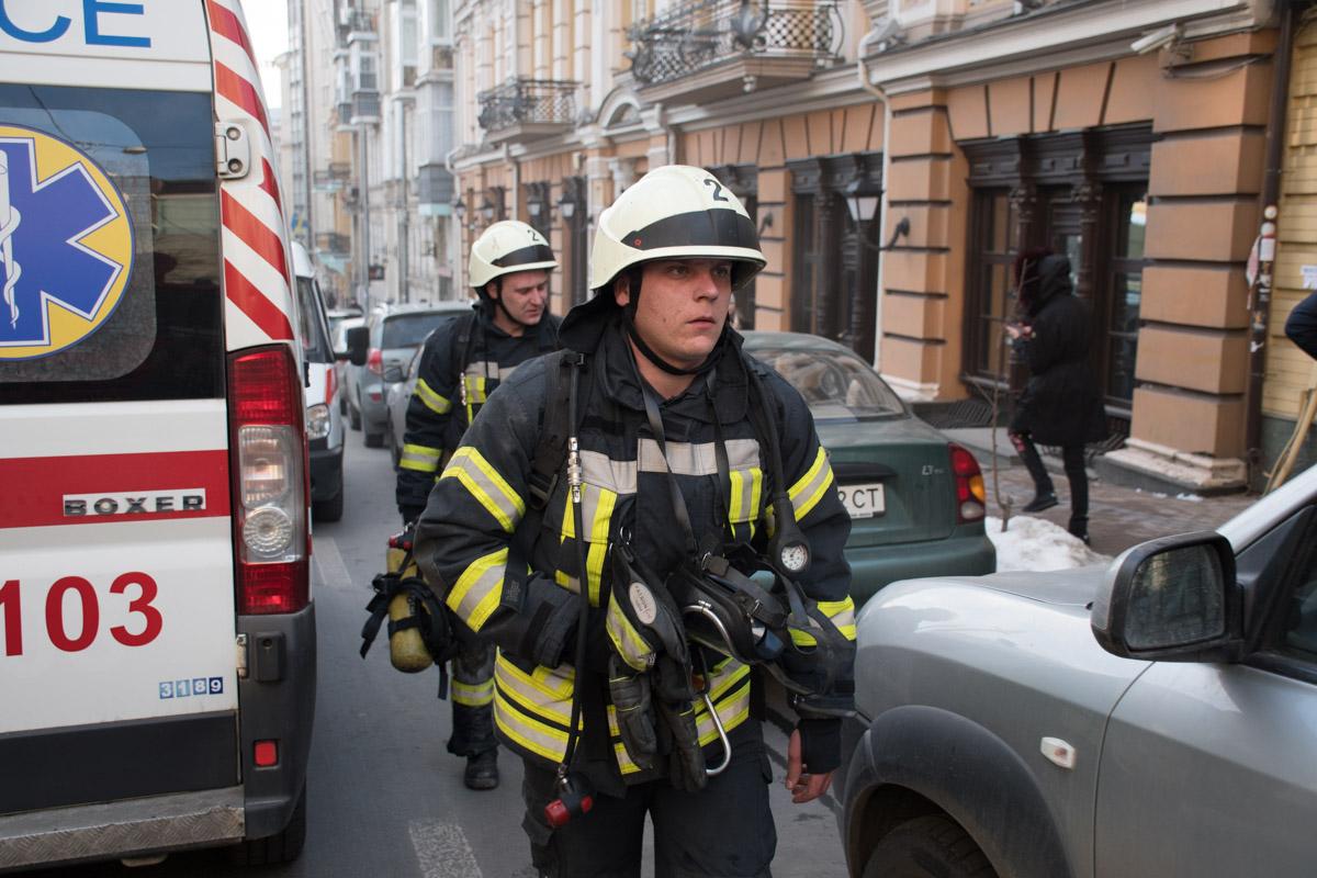 Пожар возник в центре Киева