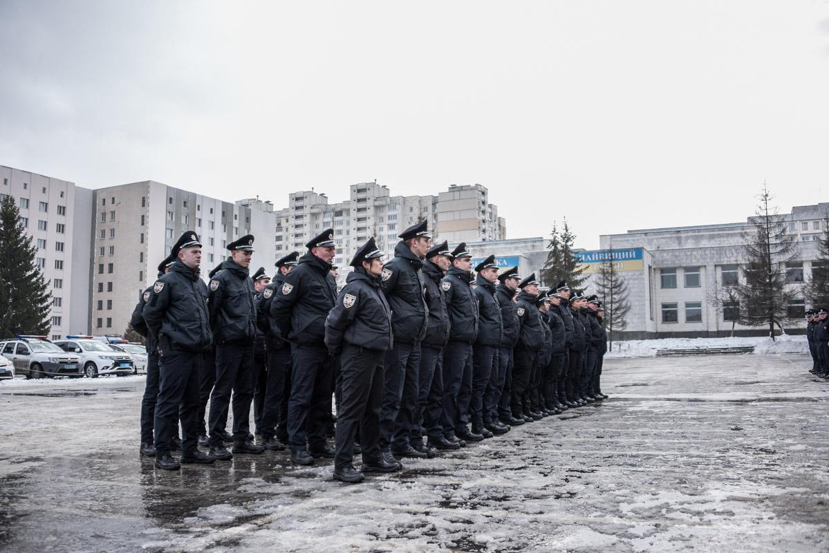 Ряды патрульной полиции пополнили новобранцы