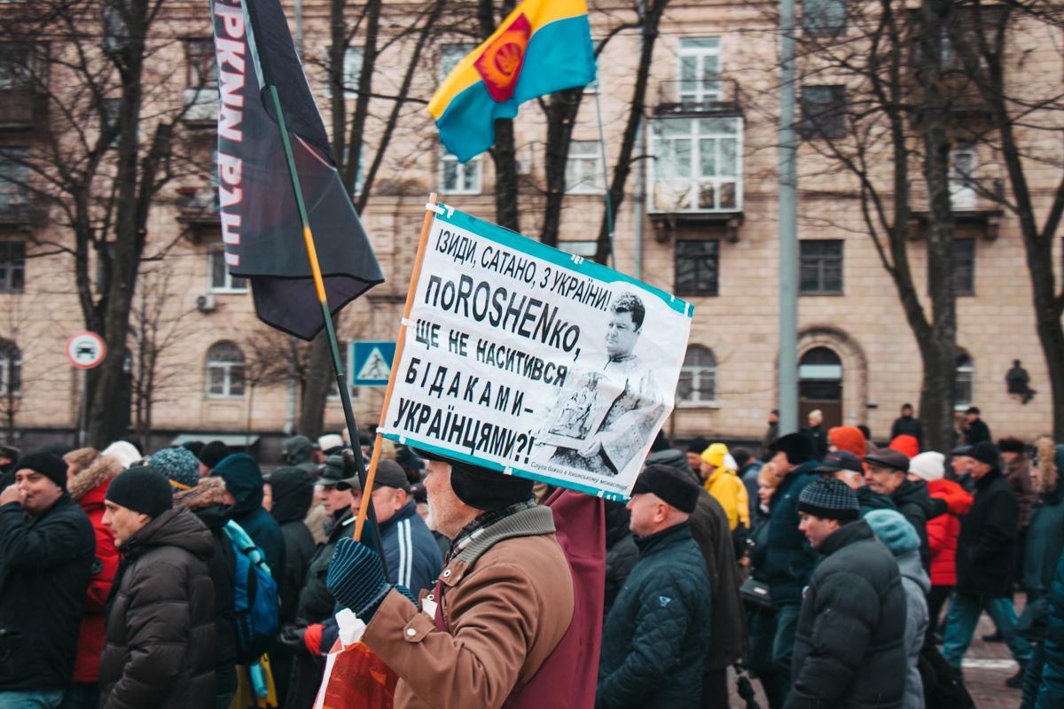 На марш активисты принесли флаги, транспаранты и листовки