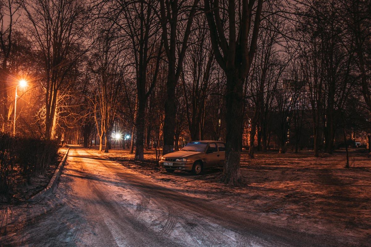 В Отрадном находится замечательный парк, который прекрасен в любое время дня и ночи