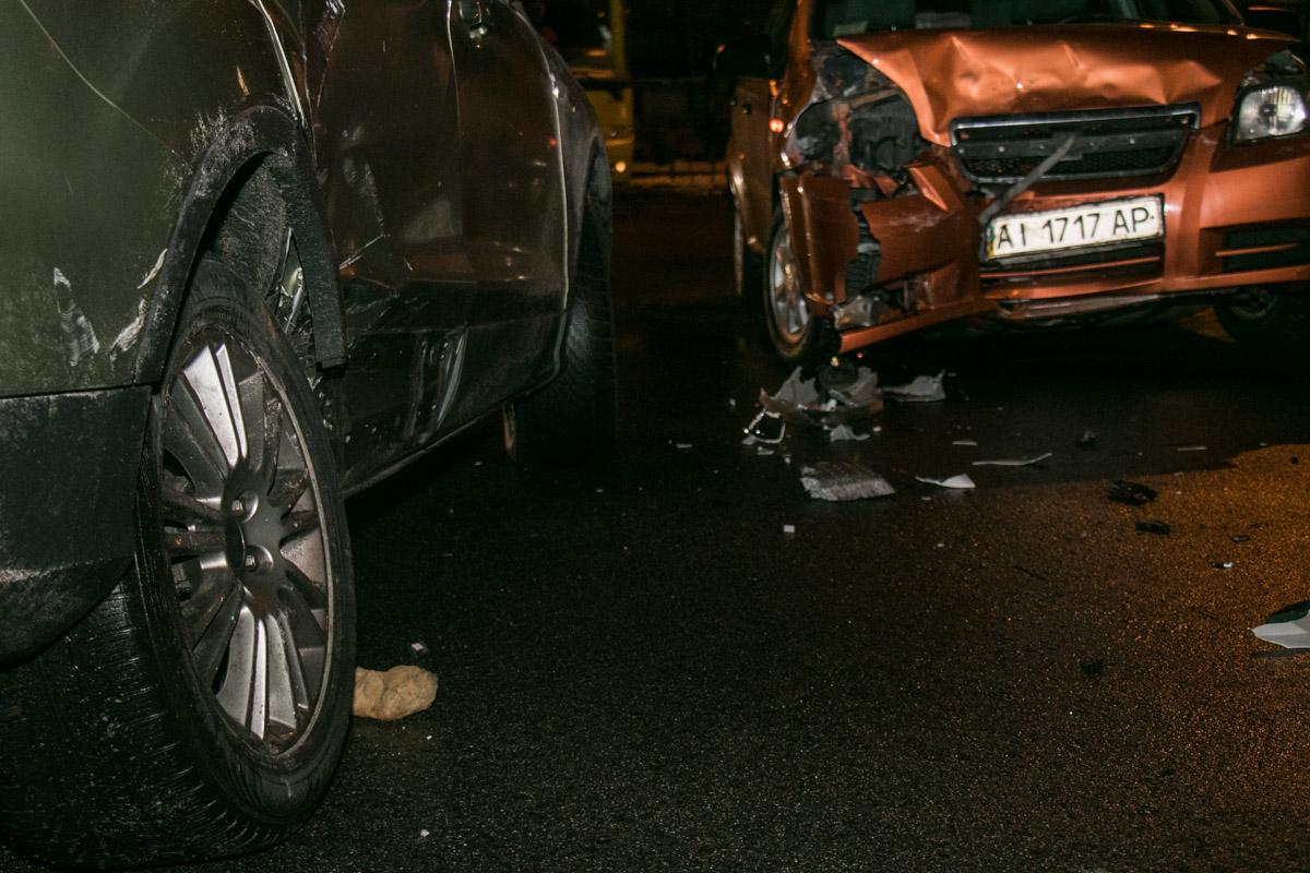 К счастью, никто из водителей не получил серьезных повреждений