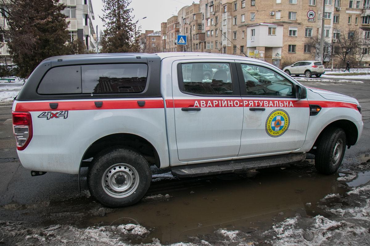 Работала аварийно-спасательная служба