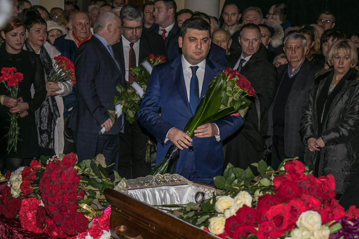 Прощальная церемония прошла в большом зале Национальной академии наук Украины