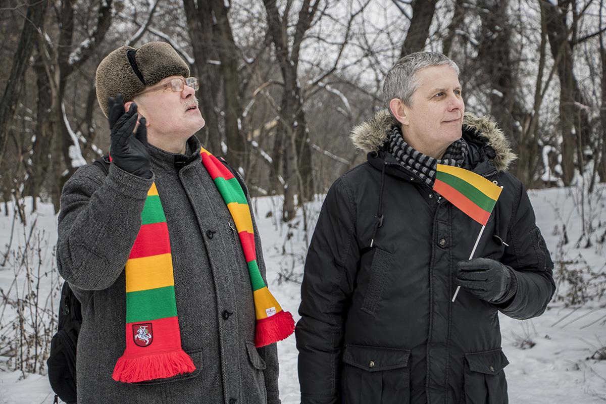 Многие пришли на мероприятие с литовской атрибутикой
