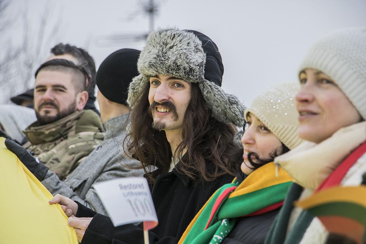 В мероприятии приняли участие представители литовской диаспоры и все те, кто захотел проявить взаимную поддержку Литве от украинцев