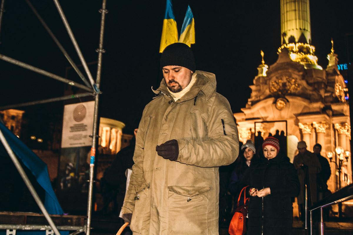 Люди прошлись по знаковым местам Майдана 2014 года