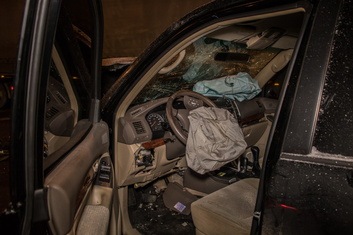 Водителя спасли подушки безопасности