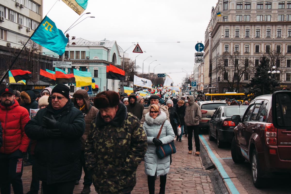 """""""Марш за будущее"""" перекрыл движение по всему центру столицы"""