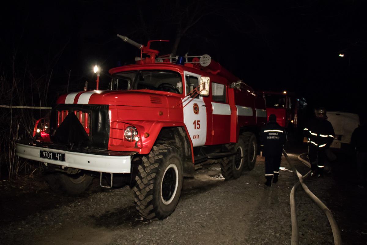 На Садовую приехали спасатели 15-й Государственной пожарно-спасательной части