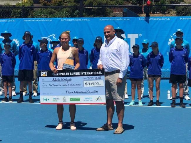 Костюк завоевала победу на теннисном турнире в Австралии