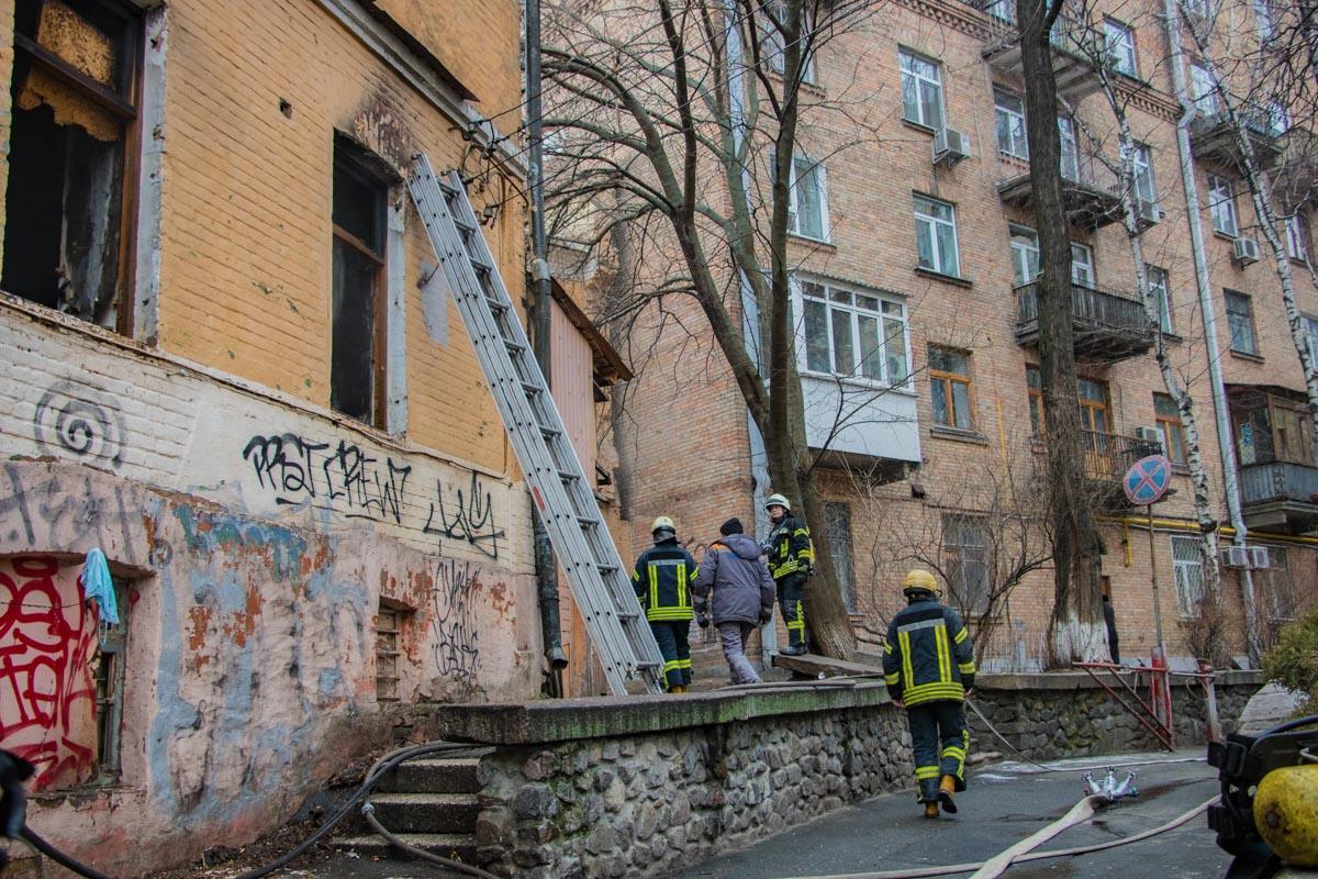 Площадь пожара составила 50 квадратных метров