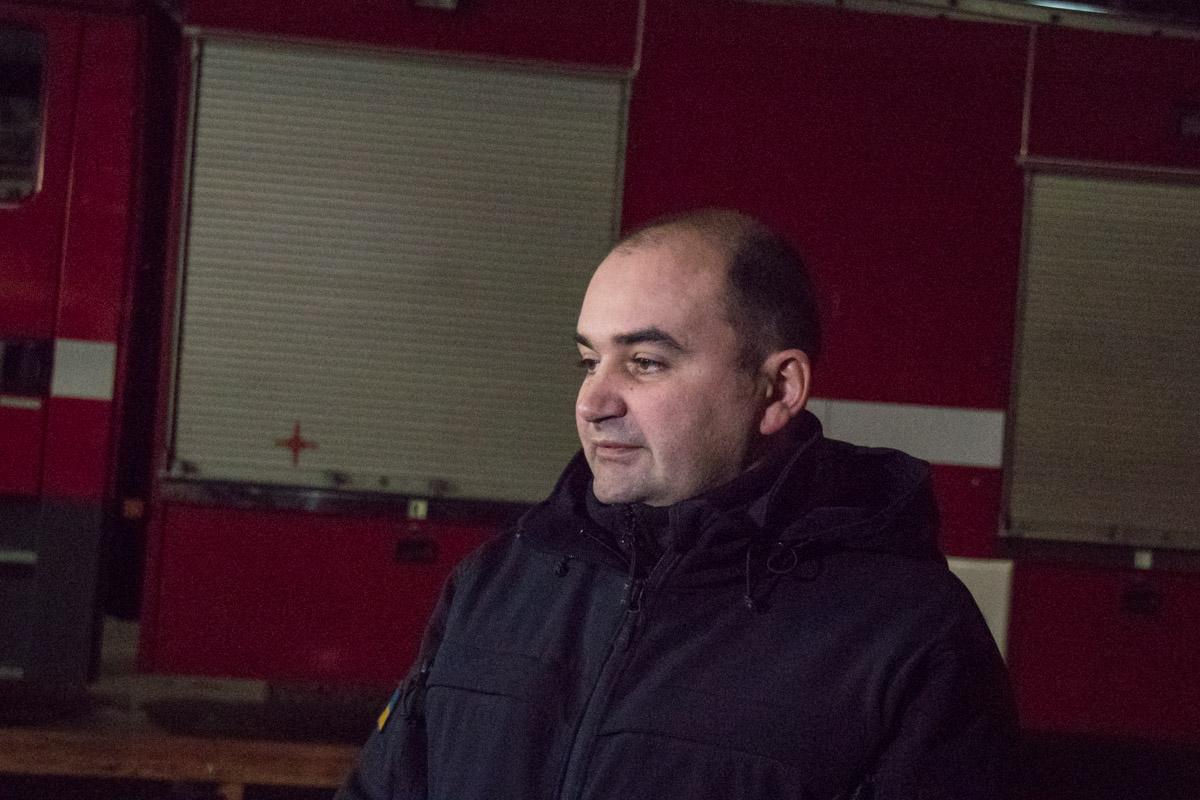 Первый заместитель начальника главного управления ГСЧС в Киеве полковник Валерий Борис