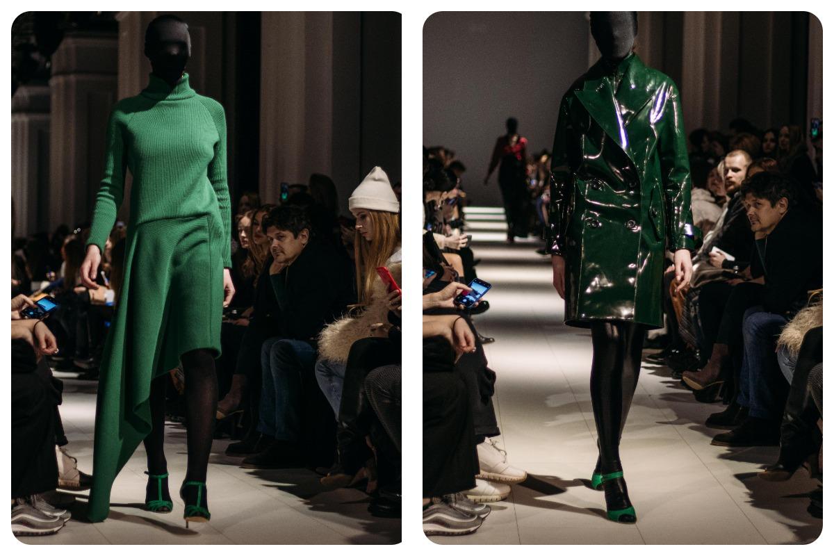 Модницам стоит обзавестись вещами темно-зеленого цвета