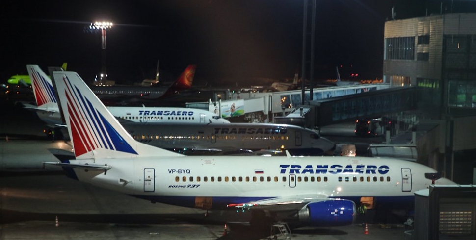 "BOEING 737-500 Transaero в аэропорту ""Домодедово"" до банкротства компании"