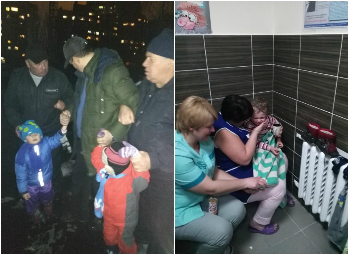 Близнецов благополучно сняли с крыши и их осмотрели медики