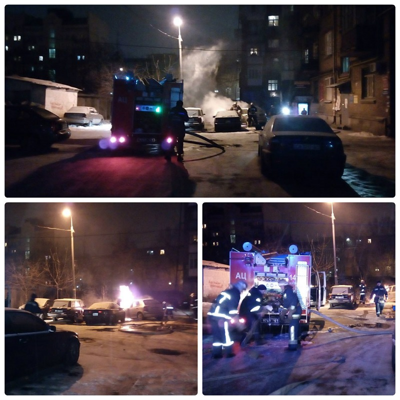 За ночь спасатели ликвидировали 6 возгораний в автомобилях