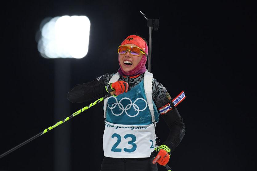 Немецкая биатлонистка Лаура Дальмайер выиграла спринтерскую гонку