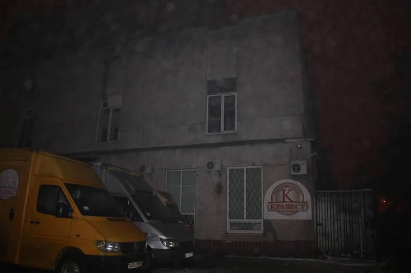 Пожар начался на кондитерской фабрике