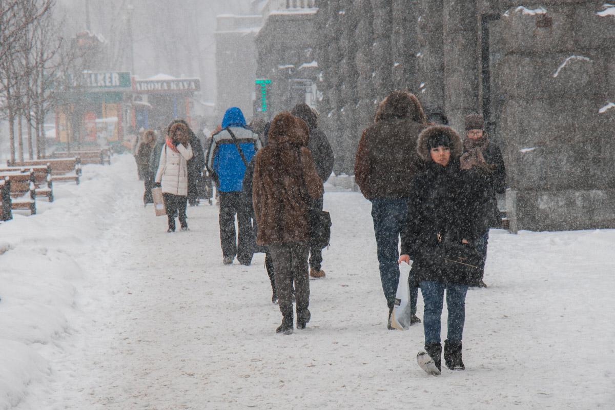 Киевляне не боятся мороза