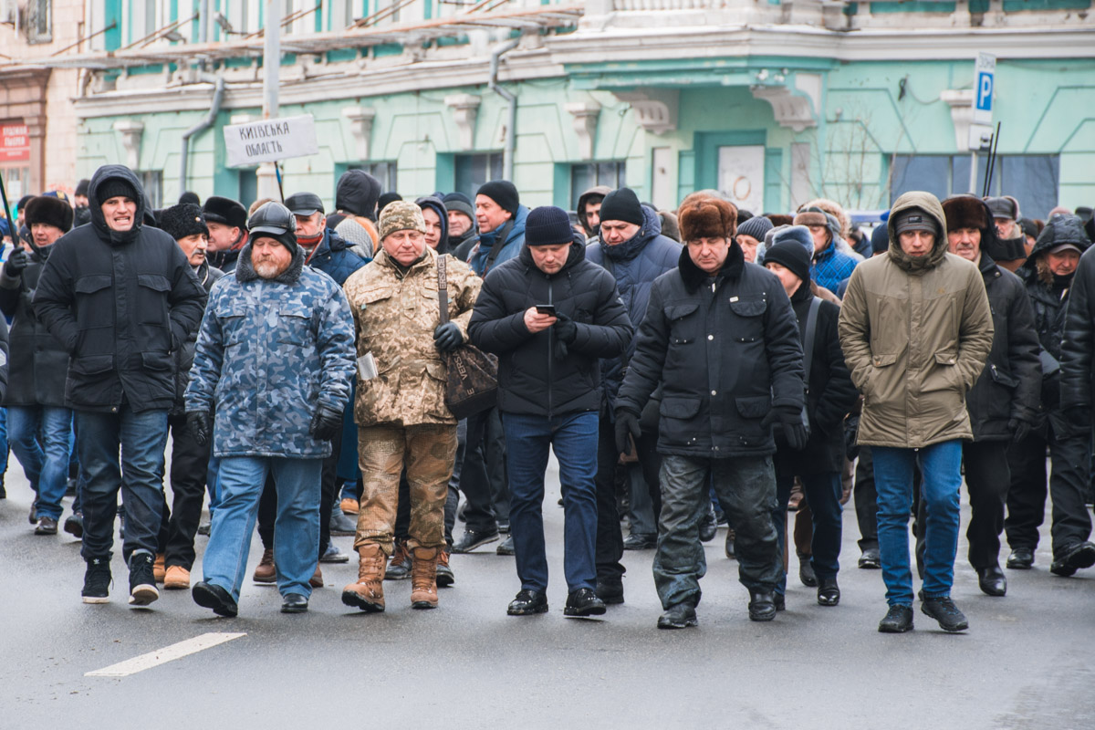 Колонну возглавил Нардеп Сергей Каплин