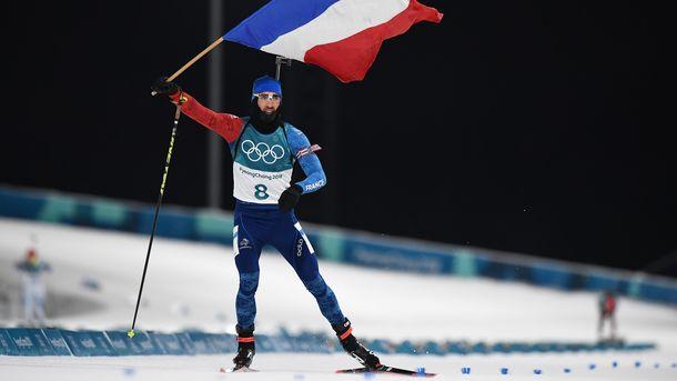 Золото в мужской гонке преследования завоевал Мартен Фуркад