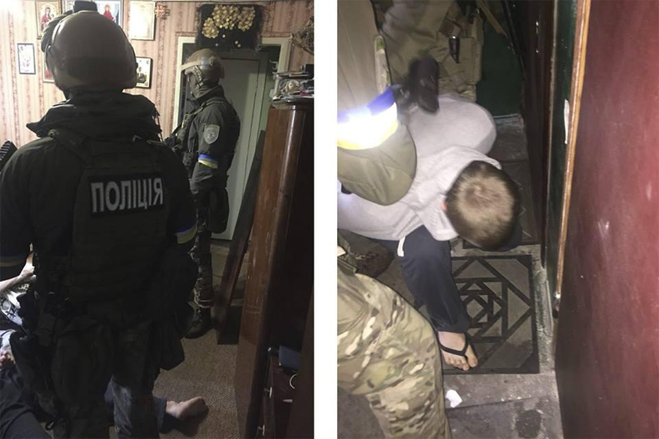 В Киеве задержали мужчин, взорвавших гранатой полицейских в Днепре