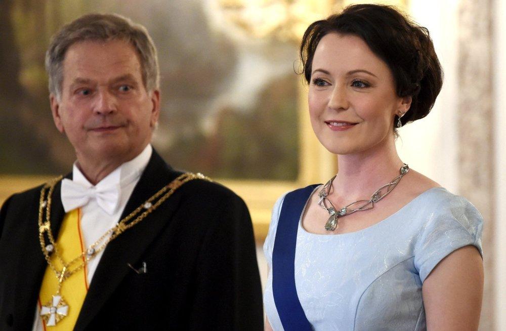 Президент Финляндии со своей супругой