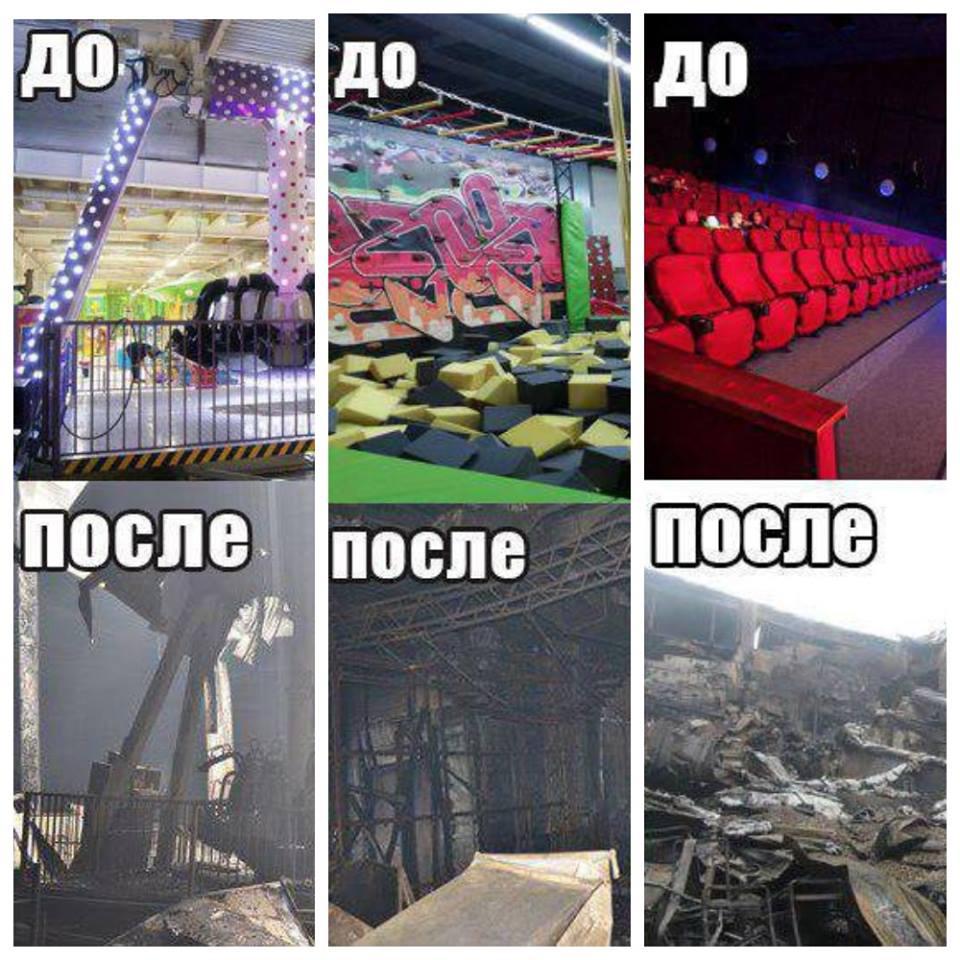 Фототаблица от МЧС России для оценки масштабов пожара в Кемерово