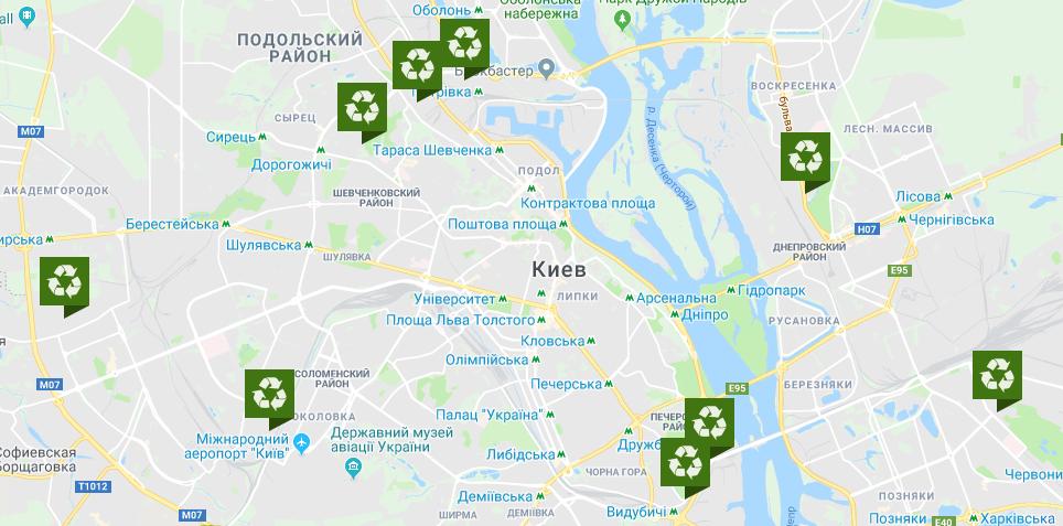Сдать изношенные шины можно в 10 пунктах Киева