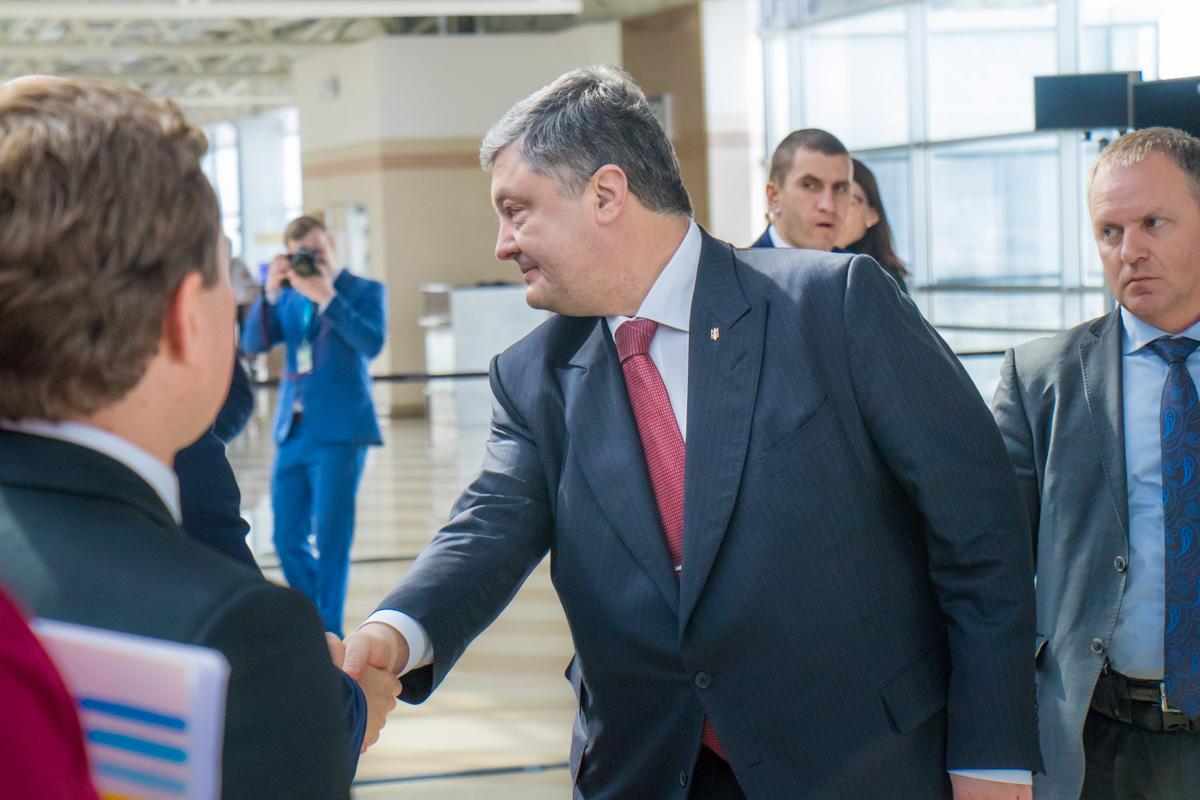 На встрече присутствовал Президент Украины