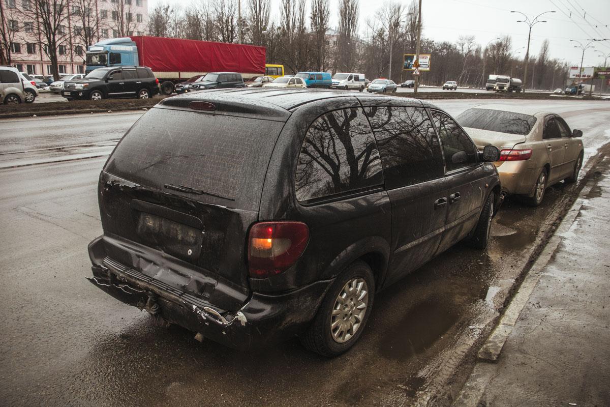 Вследствие удара машина инкассаторов врезалась в два других авто
