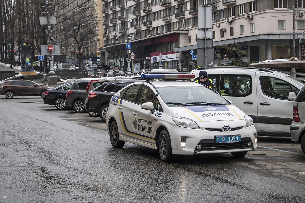 На месте аварии работала патрульная полиция